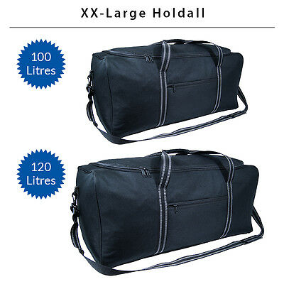 Super Lightweight X-Large Travel Holdall Duffel Sports Holiday Luggage Bag Black