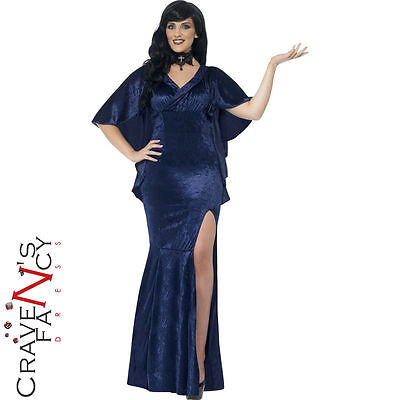 Ladies Curves Plus Size Sorceress Costume Halloween Fancy Dress Outfit New