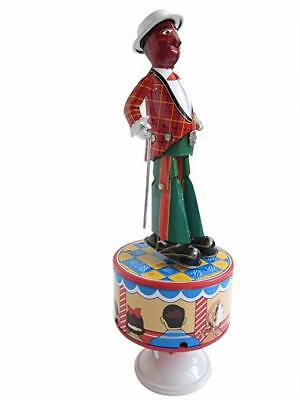 TAP DANCER dancing dance jazzbo jim sam repro jigger New in box Wind-Up Tin Toy