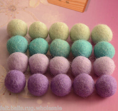 Pastel Color Mix 600 Pom Pom Felt Balls Pure Wool 20 mm Beads Nursery Decoration