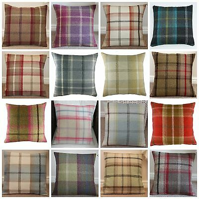 Balmoral Tartan Check Cushion Covers Various Colours & Sizes