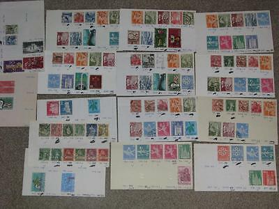 Early Switzerland Lot, all Used on cards (Duplication), Lot# SW7