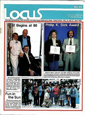 DGLib 1850: Locus science-fiction fan and news magazine #328 V 21 #5 May 1988