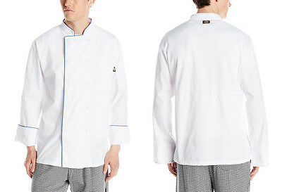 Dickies Lightweight Chef Coat Long Sleeve Cool Breeze with Mesh Vent Inlay DC104