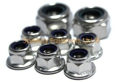 Go Kart Karting Stainless Steel Nyloc Flange Wheel Nuts 1 Set Rotax TKM Cadet