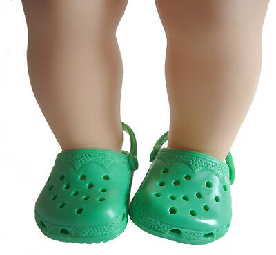CHRISTMAS Green Krocs Duc Shoes For Bitty Baby Doll Clothes Accessories