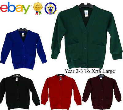 Kids Boys Girls Sweat Cardigan School Uniform Unisex Fleece Kids And Adult Size