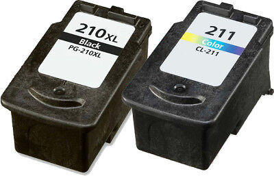 2pk PG-210XL CL-211XL Combo Ink Cartridge for Canon PIXMA MP 480 490 495