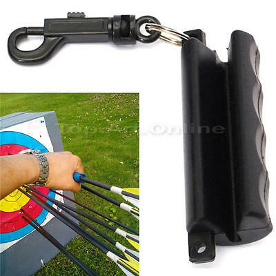 Rubber Silicon Archery Arrow Puller With Keychain for Hunting Bow Black