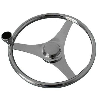 "Ship Stainless Steel Marine Steering Wheel Yacht 13.5"" hand wheel+embossing"