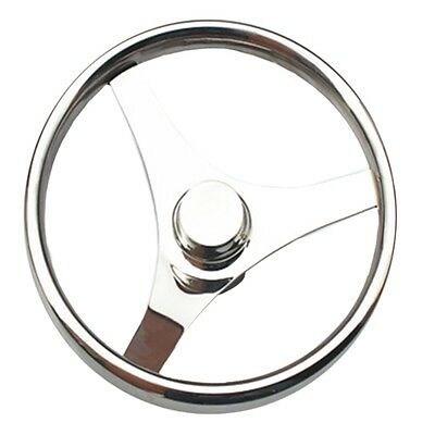 Ship Stainless Steel Marine Steering Wheel Yacht 15.5""