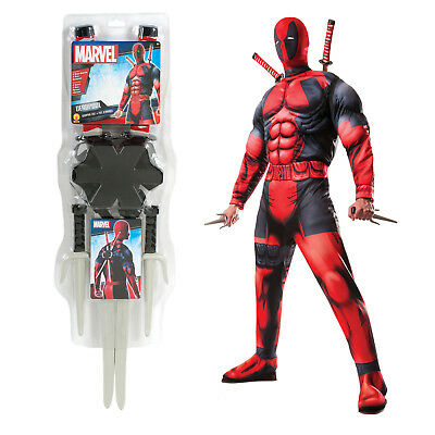 Rubies Marvel Adults Deluxe Deadpool Fancy Dress Costume Or Toy Weapon Accessory