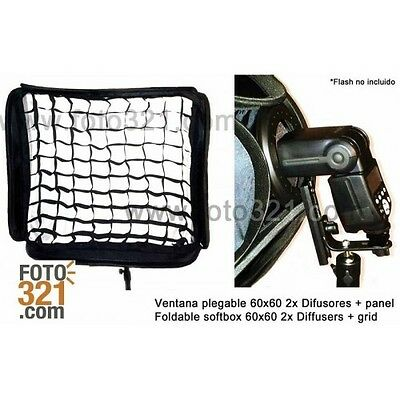 Softbox plegable 80 x 80 cm con grid