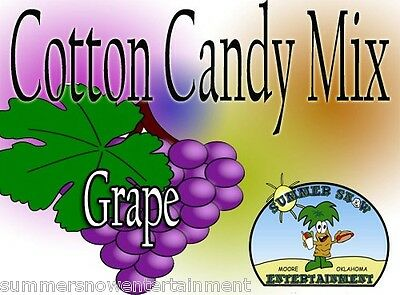 GRAPE COTTON CANDY FLAVOR mix w/ SUGAR FLAVORING FLOSSINE FLAVORED FAIRY FLOSS