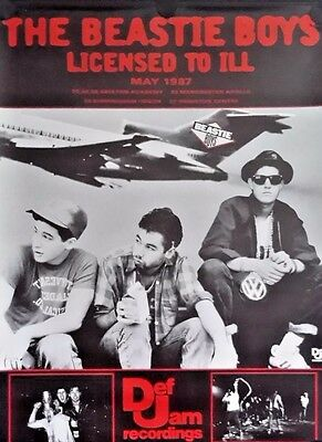 Beastie Boys, Orig.Giant  Promo Poster.1987  Free Int.Shipping 37 x 50 inch