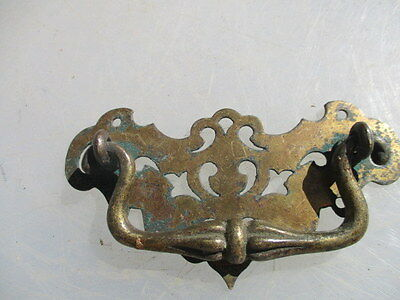 Antique Brass Drawer Handle Pull Architectural Hardware Victorian Old J.J&S 1893