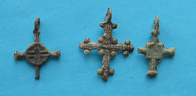 Medieval christianity Cross pendant lot