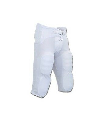 New Champro Adult Football Practice Game Pants w Integrated 7 Pad Set White S-XX