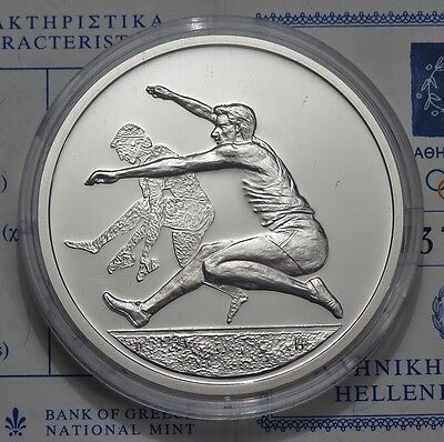 10 € Griechenland - Olympiade 2004 in Athen - Weitsprung  1 oz Ag