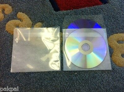 1000 Double Cd Dvd Pp Sleeves W/non-Woven Fabric Liner & Tuck-In Flap
