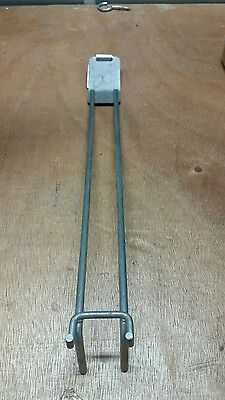 Pegboard hooks ex shop box of 100 use double prong 265mm long 25mm wide steel