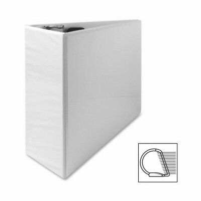 "Sparco Slant Ring View Binder, 4"" Capacity, 11""x8-1/2"", White (SPR62471)"