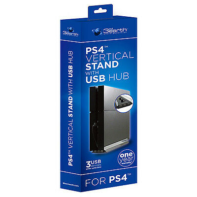 NEW 3rd Earth Vertical Stand With USB Hub For PlayStation 4 Age: 3+