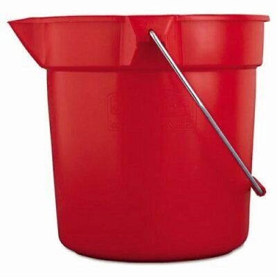Rubbermaid 2963 Brute 10 Quart Round Plastic Bucket, Red (RCP 2963 RED)