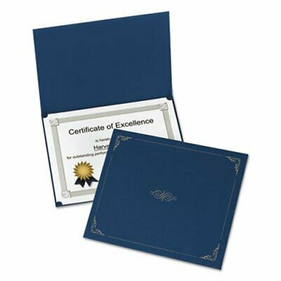 Oxford Certificate Holder, 12-1/2 x 9-3/4, Dark Blue, 5/Pack (OXF29900235BGD)