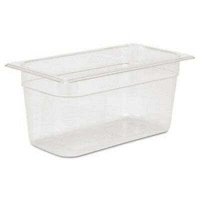Rubbermaid 118P 1/3 Size Cold Food Pan, Clear, Each (RCP118PCLE)