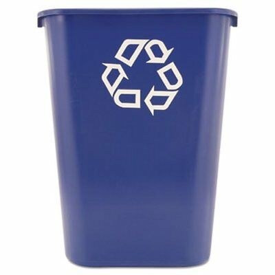 Rubbermaid 295773 Deskside 10 Gallon Recycling Container, Blue (RCP295773BE)