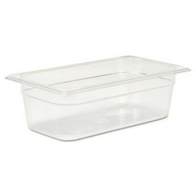 Rubbermaid 117P 1/3 Size Cold Food Pan, 4-Qt Capacity (RCP117PCLE)