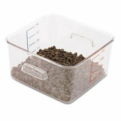 Rubbermaid 6304 Space Saving Square Container, 4 Quarts, Clear (RCP 6304 CLE)