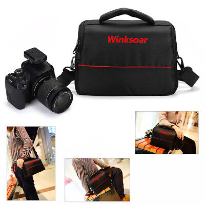 Waterproof Shoulder Carry Case Bag BLACK For Sony Nikon SLR DSLR Camera AU