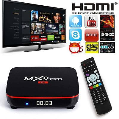 2016 MX9 4K Quad Core Android 5.1 TV Box Fully Loaded KODI XBMC Media Player UK