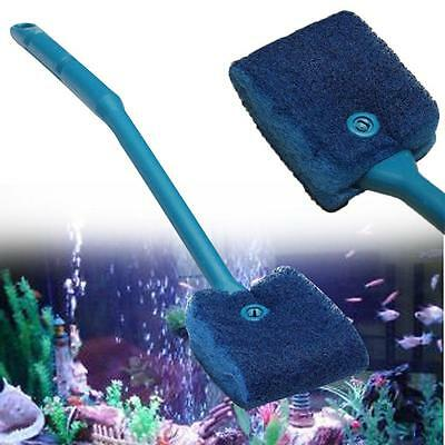 Aquarium Cleaning Tool Algae Cleaner Clean Brush Fish Tank Maintenance Blue AH