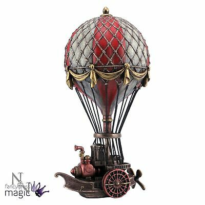 Nemesis Now Steampunk Gothic Flying Balloonist Air Balloon Ship Figurine Gift
