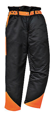 Portwest Mens Chainsaw Safety Trousers Water Resistant Forestry Work Pants CH11