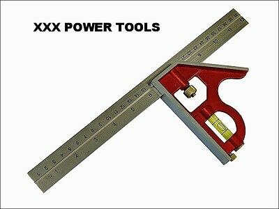 "Faithfull 16"" (400mm) Adjustable Carpenters Combination Set Square Right Angle"