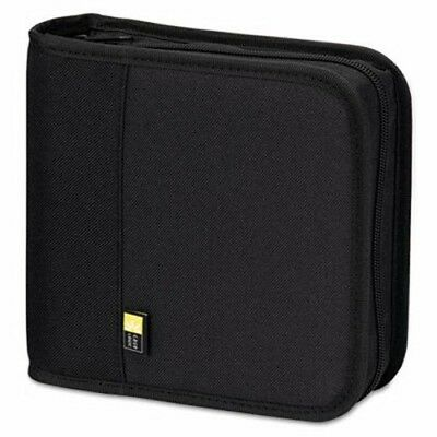 Case Logic CD/DVD Expandable Binder, Holds 24 Disks, Black (CLGBNB24)