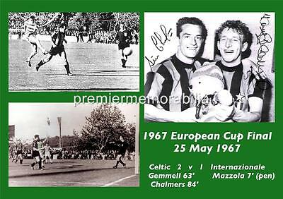 Celtic Fc 1967 Cup Final Lisbon Lions Tommy Gemmell Chalmers Signed (Printed)