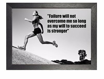 Motivational 600 Photo Running Quote Poster Work Hard Inspiration Sport Passion