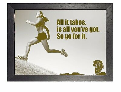 Motivational 615 Photo Running Quote Inspirational Workout Print Sport Poster