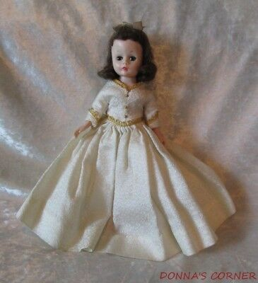 Vintage Brunette Madame Alexander Doll~Cissette In Tagged Brocade Gown