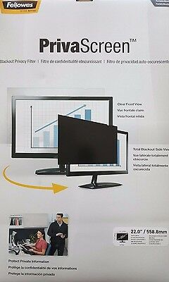 Fellowes PrivaScreen Privacy Filter for 22.0 Inch Widescreen Monitors