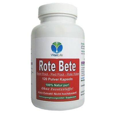 Rote Beete, 120 Pulver-Kapseln a 500mg , #25325