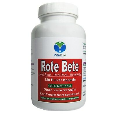 Rote Beete, 180 Pulver-Kapseln a 500mg , #25326