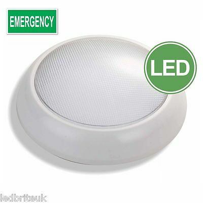 Emergency 16Watt Led Bulkhead Light Ip54 Switchable Maintained/ Non Maintained