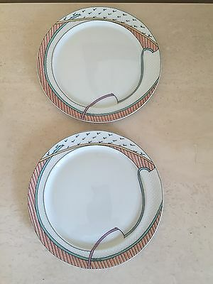 "Rosenthal Studio Linie New Wave Set Of 2 Salad Plates 7.75"" Dorothy Hafner"