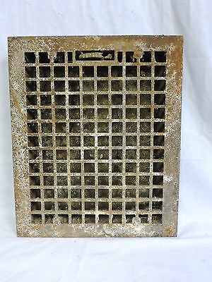 HUGE ANTIQUE LATE 1800'S CAST IRON HEATING GRATE 17 X 14          a